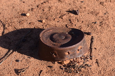 Rusty can.