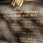 Bicentennial plaque at Gnarlbine Well.