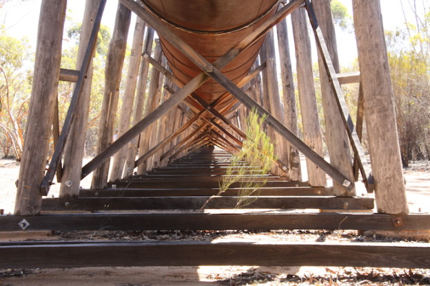 The supports of the Karalee aquaduct.