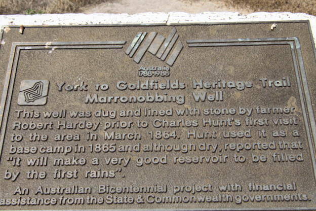 Plaque at Marranobbing Well.