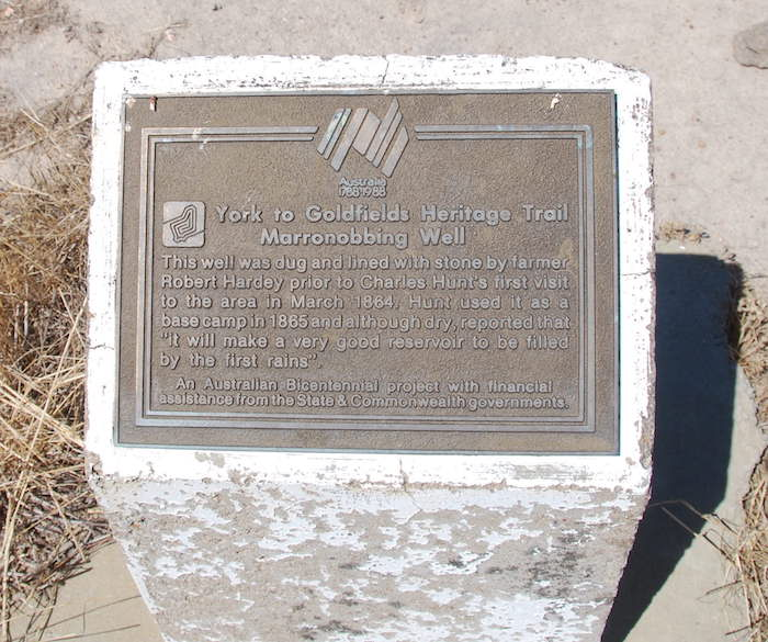 Mooranoppin Well plaque February 2015.
