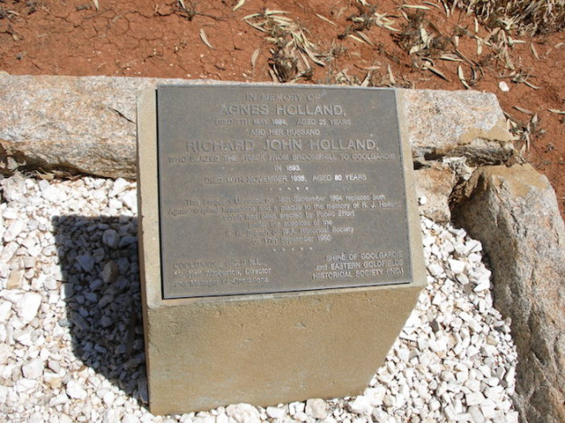 R.J. Holland's plaque at the Pioneer Cemetery.