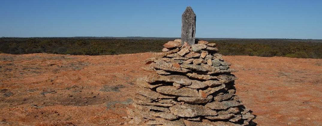 Cairn on Yerdanie Rock.