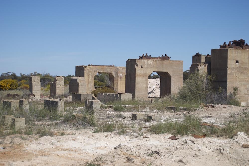 Remains of Chandler potash works.
