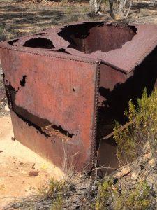 Derelict condensor tank.