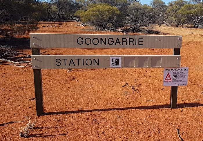 South western boundary of Goongarie Station, now controlled by DEC.