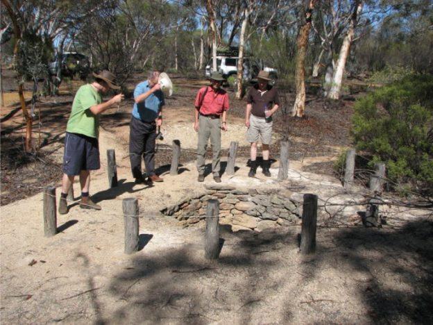 Clinton, Rob, Joe and Peter at Karalee Well.