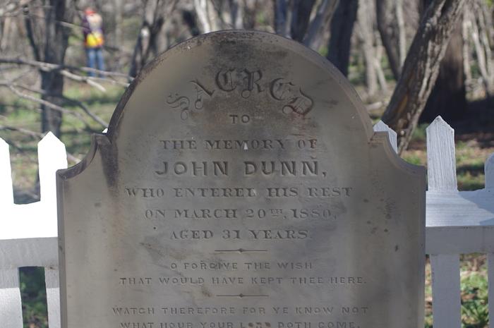 Headstone at Cocanarup.