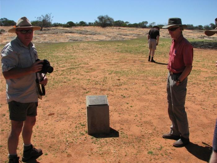 Kim and Joe at the plaque at Horse Rock.