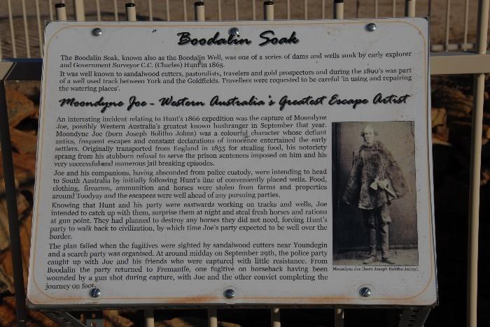 Information board at Bodallin Soak.