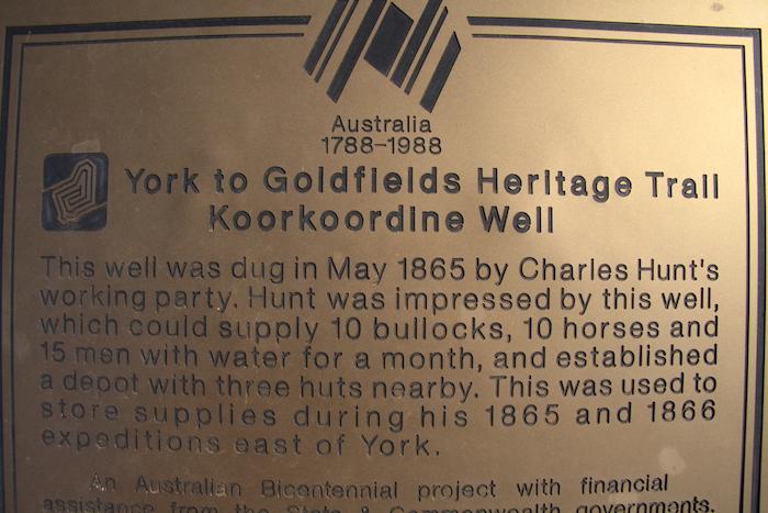 Bicentennial plaque at Koorkoordine.