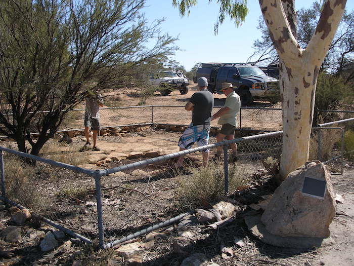 The fence around Koorkoordine Well is important in helping to preserve and protect it.