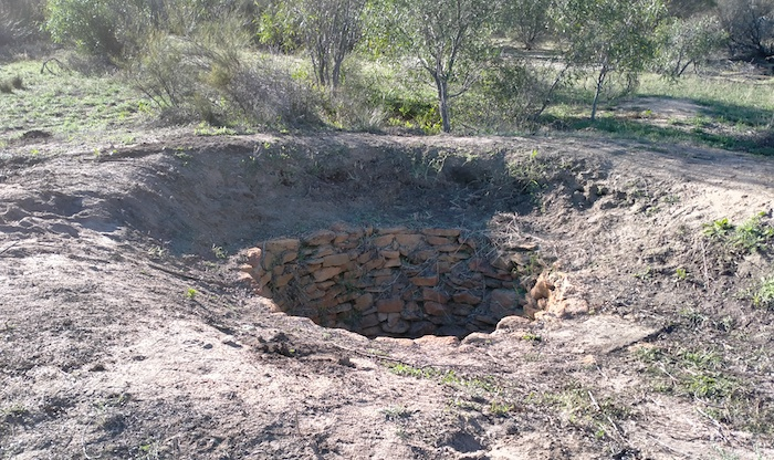 Moorine Rock Well was built by C.C. Hunt's team in 1865 as part of a series of wells installed at regular intervals between York and the Hampton Plains.
