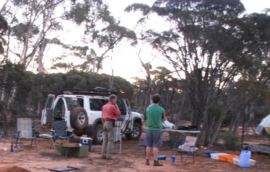 Our camp near Yerdanie Rock.