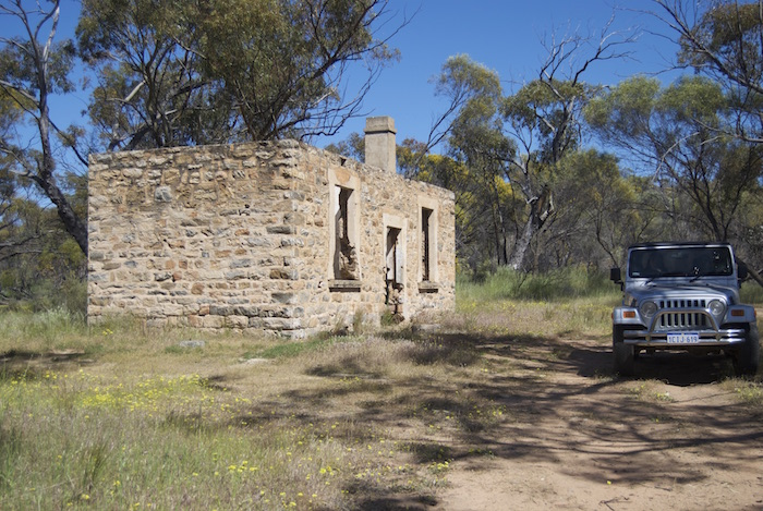 Ruins of what was possibly the caretaker or manager's residence.