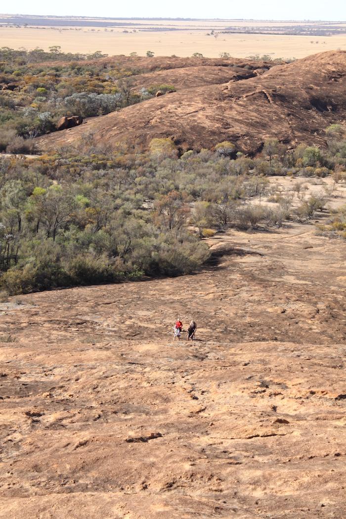 Climbing up Sandford Rock.